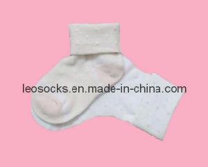 White Baby Socks with Cuff (DL-CS-21) pictures & photos