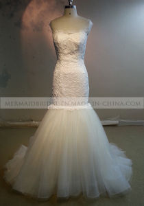 Mermaid Scoop Ivory Lace Wedding Dress (M1312121)