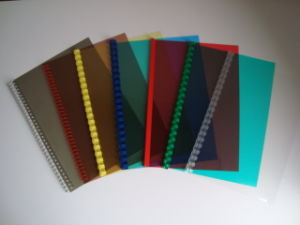 Plastic Binding Notebook Cover pictures & photos