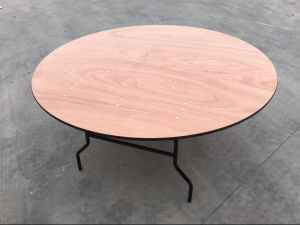 48′′ Banquet Round Wood Folding Table pictures & photos