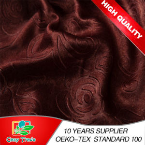 Faux Silk, Luxurious 100%Blackout Curtain Fabric Plain, Emboss, Printing pictures & photos