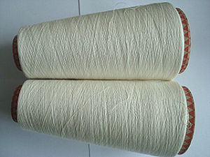 Combed Cotton Jute Viscose Fiber Blenched Yarn Ne32/1 pictures & photos