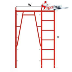 "Walk Through Frame with 18"" Ladder-Snap on Lock pictures & photos"