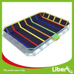 Professional Gymnastic Indoor Trampolin with Spider Tower and Olympic Mat pictures & photos