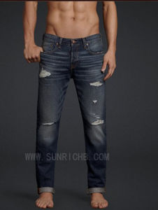 Men′s Cotton Denim Jeans Pants (J04014) pictures & photos