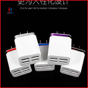2015 New Mobile 4 Ports USB Charger Adapter pictures & photos