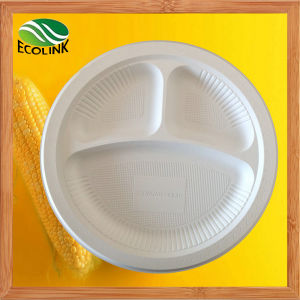 10 Inch Disposable Cornstarch Plate pictures & photos