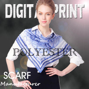 Digital Printed Polyester Scarf pictures & photos