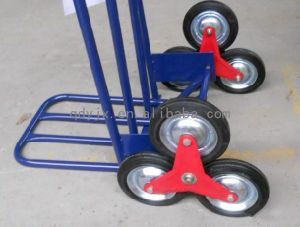 PU Foam Tyre Plastic Rim Stair-Climbing Trolley Wheel with Steel Frame pictures & photos