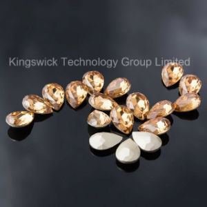 Shining Drop Shape Loose Point Back Rhinestone pictures & photos