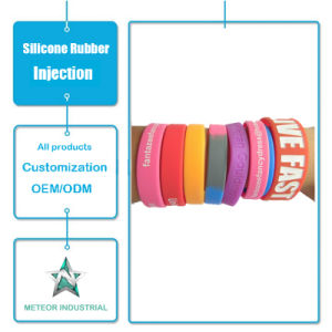 Customized Silicone Rubber Injection Mould Products Promotional Gifts Silicone Wristband Bracelet pictures & photos