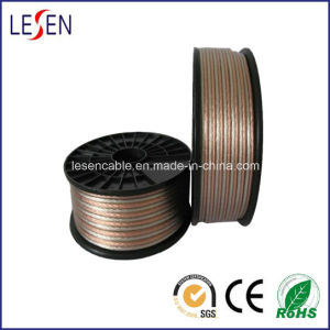 Transparent Speaker Cables with Oxygen-Free Copper, Tinned Copper Conductor, CE Certified pictures & photos