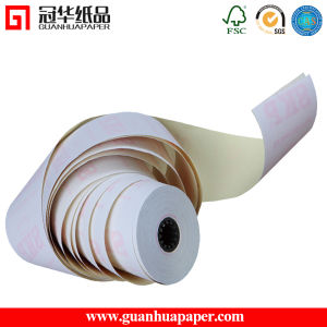 SGS 76mm*70mm 3 Ply Carbonless Paper Roll pictures & photos