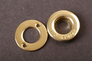 High-Quality Golden Zinc Alloy Metal Screw Eyelets pictures & photos