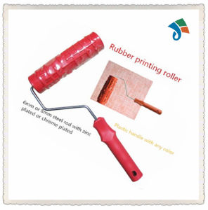 Plastic Handle Pattern Rubber Roller Brush for Decorating The Wall pictures & photos