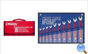 10PCS Rubber Handle Finishcombination Wrench Set
