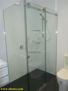 6mm 8mm 10mm Frameless Safety Tempered Bathroom Shower Glass Door pictures & photos