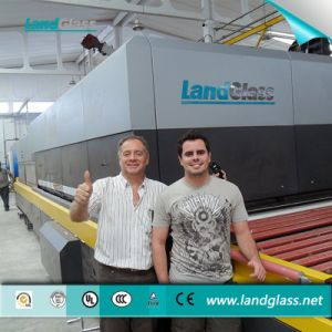 Landglass CE Approved Horizontal Building Glass Toughening Machine pictures & photos