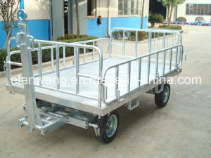 Four Rail Baggage Cart Dolly pictures & photos