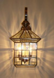 Pw-19351 Copper Wall Light with Glass Decorative pictures & photos