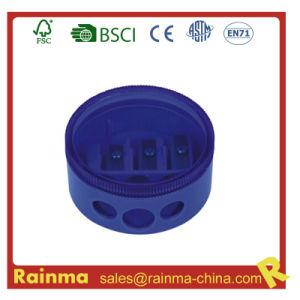 Blue Plastic Triple Hole Pencil Sharpener pictures & photos