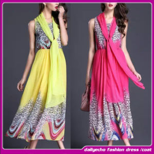 2015 Latest Popular Maxi Candy Color Long off-Shoulder Slim Chiffon Dress for Mature Sex Ladies in Summer (C-185)