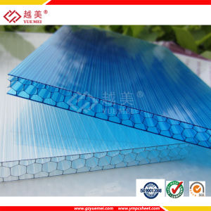 Ten Years Warranty Polycarbonat Honeycomb/Cellular Hollow Sheet (YM-PC-008) pictures & photos