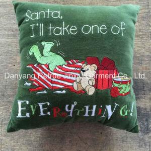 Santa Claus Gifts Embroidery Decorative Christmas Cushion