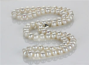 11-12mm Potato Shape White Pearl Fashion Necklace pictures & photos