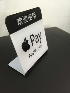 Custom L Shape Acrylic Apple Pay Display Stand pictures & photos