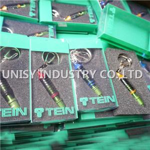 High Performance Tein Spring Coilover Keychain Keyring, Car Logo Keychain Keyring Key Holder