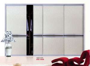 PVC Series Wardrobe Sliding Door (yg-009) pictures & photos