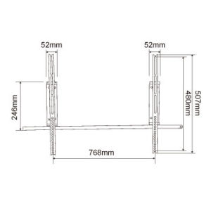 Slim LCD LED Flat Panel TV Wall Mount for 37 to 62 Inch pictures & photos