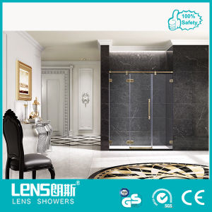 2013 10/12mm Tempered and Filmed The Newest Bronze/Red Antique Copper/Golden Shower Room 10/12 Tempered Glass Hinge Door Lampard P31