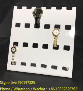L Shape White Perspex Watches Display Shelf pictures & photos