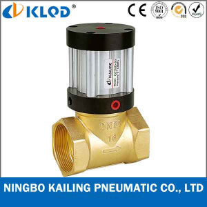 Q22HD-20 2/2 Way Piston Type Brass Material Pneumatic Steam Valve pictures & photos