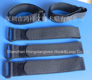 Black Plastic Buckle Adjustable Hook & Loop Straps Without Printings