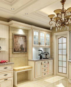 Russia′s Most Popular Classic Antique White Wood Kitchen Cabinet