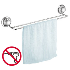 Rustproof Suction Bathroom Stainless Steel Towel Rack Shelf
