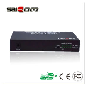 100Mbps 1FX/4Fe Ports Fast Ethernet Switch Media Converter pictures & photos