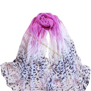 Fashion Leopard Imitation Silk Scarf pictures & photos