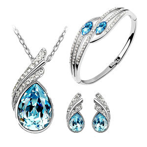 925 Silver Pendants and Earrings Jewelry Set with CZ pictures & photos