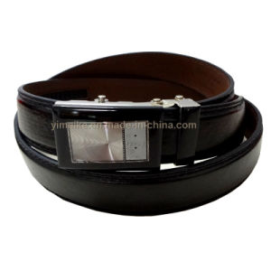 OEM High Quality PU Leather Black Automatic Buckle Belt Men′s Man Belt pictures & photos