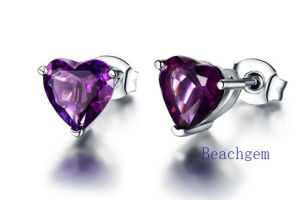 Jewellery-Amethyst Sterling Silver Earrings (E7604 pictures & photos