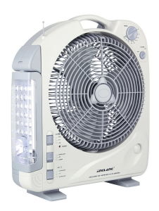 12inch Rechargeable Emergency AC/DC Fan with LED Light Radio (292B)