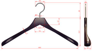 Hh Customer Bestselling Wooden Clothes Hanger, Hangers for Jeans pictures & photos