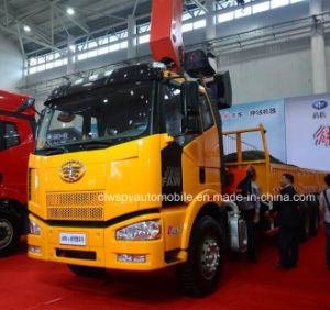 6X4 10 Tons Telescopic Foldable Arm Truck with Loading Crane pictures & photos