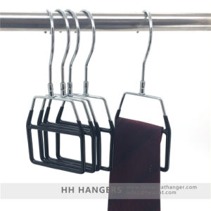 Metal Black Clips Hanger Fashion Design Top Clothes Hangers pictures & photos