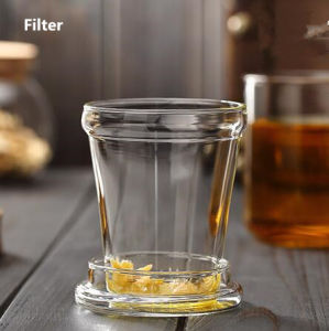 400ml Glass Tea Cup with Filter Festival Gift Glass Mug Office Tea Glass pictures & photos