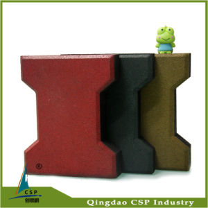 Outdoor Rubber Floor Brick with Dog Bone Shape pictures & photos